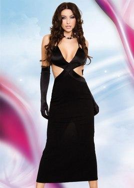 Длинное платье черное