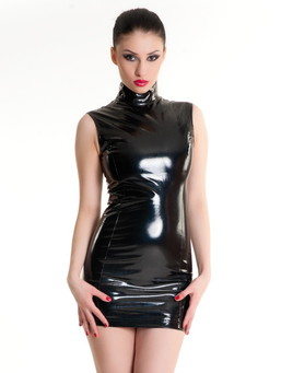 Платье на молнии черное