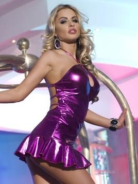 Платье с открытой спиной фиолетовое